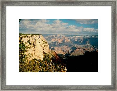 Framed Print featuring the photograph Canyon Shadows by Fred Wilson