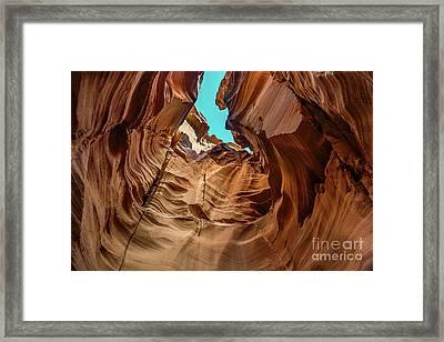 Canyon Sky - The Amazing Antelope Slot Canyons In Arizona, Usa. Framed Print
