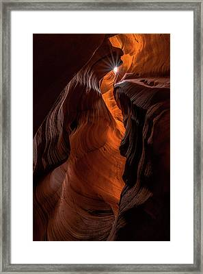 Framed Print featuring the photograph Canyon Star by Chuck Jason