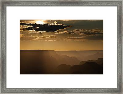 Canyon Strata Framed Print by Steve Gadomski