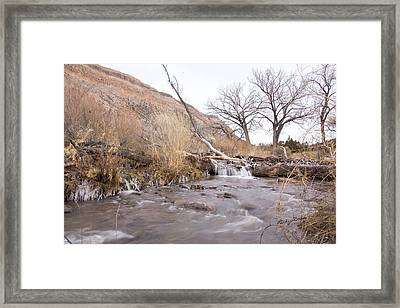 Canyon Stream Current Framed Print by Ricky Dean
