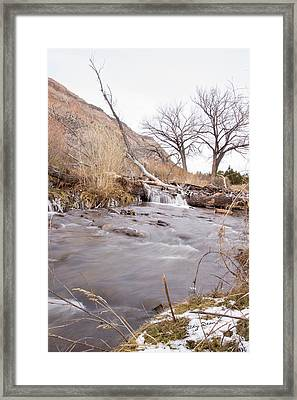 Canyon Stream Falls Framed Print by Ricky Dean
