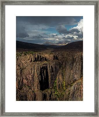 Canyon Wall Framed Print by Joseph Smith
