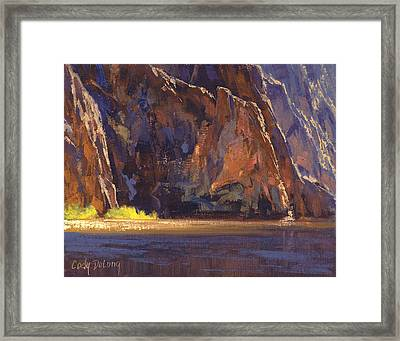 Canyon Walls Framed Print