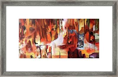 Canyon Walls Framed Print
