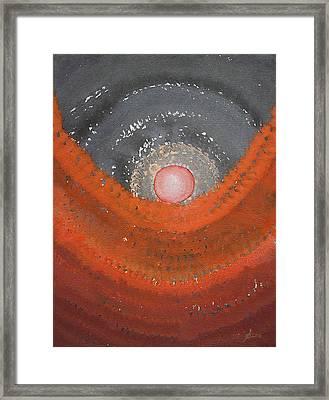 Canyon Wave Original Painting Framed Print