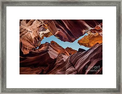 Canyon X - The Amazing Antelope Slot Canyons In Arizona, Usa. Framed Print