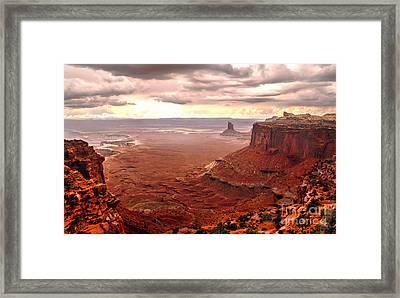 Canyonland Rain Framed Print