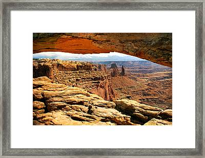 Canyonlands Arch Framed Print by Marty Koch