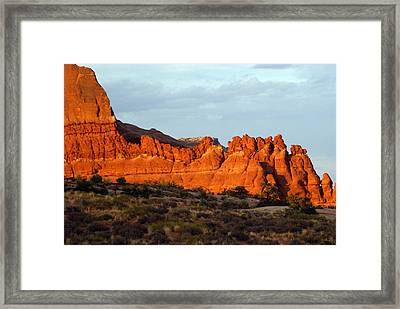 Canyonlands At Sunset Framed Print by Marty Koch