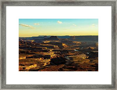 Canyonlands Golden Hour Framed Print by James Marvin Phelps