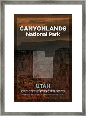 Canyonlands National Park In Utah Travel Poster Series Of National Parks Number 07 Framed Print by Design Turnpike