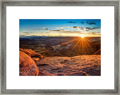 Canyonlands Sunset Framed Print