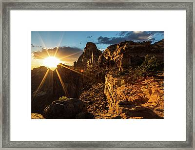 Canyonlands Sunset II Framed Print by James Marvin Phelps
