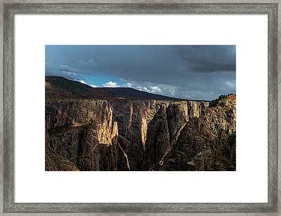 Canyon's Evening Light Framed Print by Joseph Smith