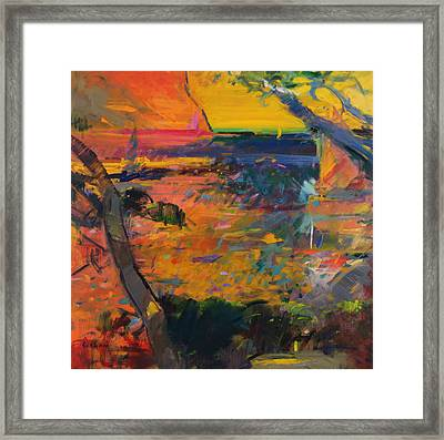 Cap Canaille Sunset Framed Print by Peter Graham