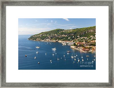 Cap De Nice And Villefranche-sur-mer On French Riviera Framed Print by Elena Elisseeva