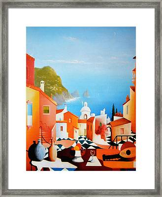 La Bellissima Isola De Capri Framed Print by Joe Gilronan