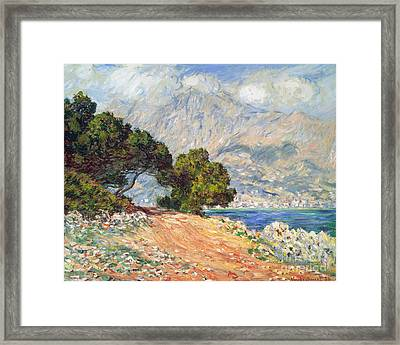 Cap Martin Framed Print by Claude Monet