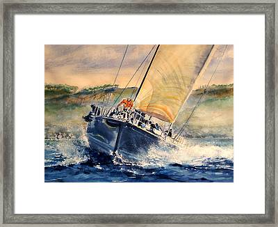 Cap To The Boy Framed Print by Maria Balcells