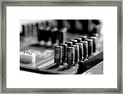 Capacitors All In A Row Framed Print