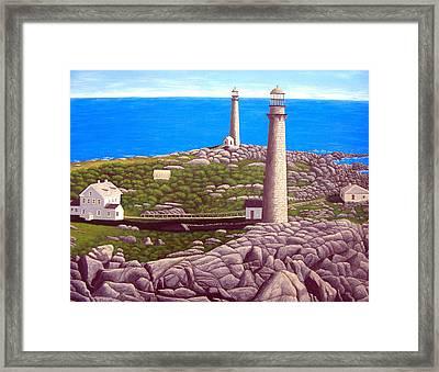 Cape Ann Twin Towers Framed Print by Frederic Kohli