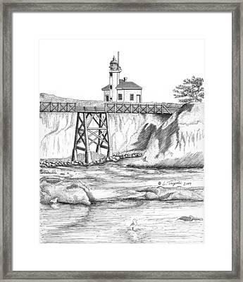 Cape Arago Lighthouse Framed Print by Lawrence Tripoli