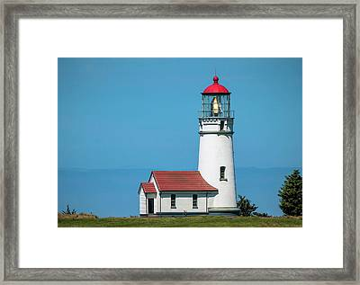 Cape Blanco Lighthouse At Cape Blanco, Oregon Framed Print