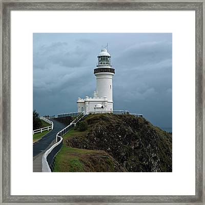 Cape Byron Lighthouse Framed Print by Odille Esmonde-Morgan