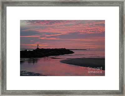 Cape Charles Pink Sunset Framed Print
