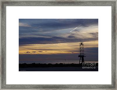 Cape Charles Sunset Framed Print