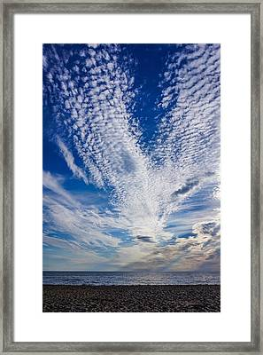 Framed Print featuring the photograph Cape Clouds by Kendall McKernon