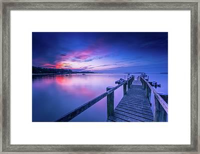 Cape Cod Art Sunrise On Pleasant Bay In July Framed Print by Dapixara