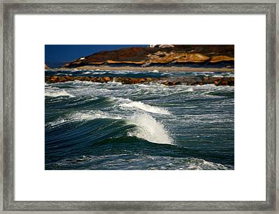 Cape Cod Bay In November Framed Print by Dianne Cowen