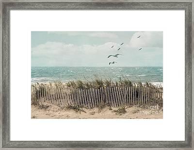 Cape Cod Beach Scene Framed Print