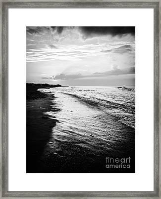 Cape Cod Beach Sunset Framed Print by JMerrickMedia