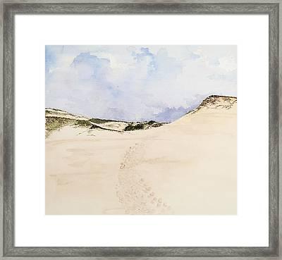 Cape Cod Beach Framed Print by Virginia McLaren