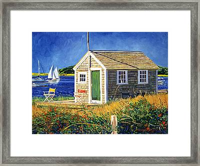 Cape Cod Boat House Framed Print by David Lloyd Glover
