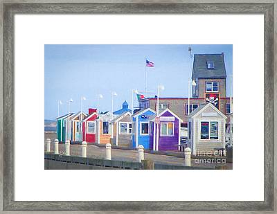 Cape Cod Cabins Framed Print