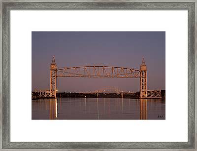 Cape Cod Canal Bridges II Color Framed Print by David Gordon