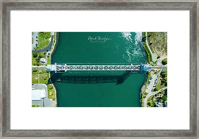 Framed Print featuring the photograph Cape Cod Canal Railroad Bridge by Michael Hughes