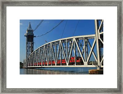 Cape Cod Canal Railroad Bridge Train Framed Print