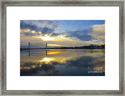 Cape Cod Canal Sunrise Framed Print by Amazing Jules