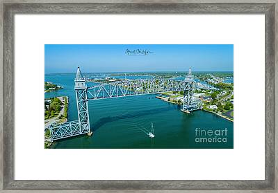 Cape Cod Canal Suspension Bridge Framed Print