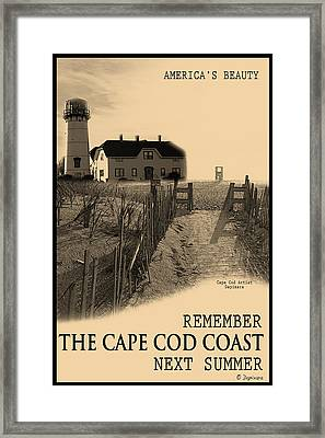 Cape Cod Coast Poster Framed Print by Dapixara Art