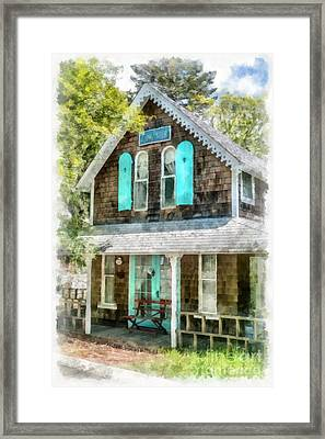 Cape Cod Cottage Cba Framed Print by Edward Fielding