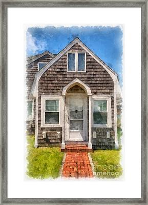 Cape Cod Cottage Watercolor Framed Print by Edward Fielding