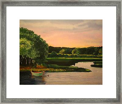 Cape Cod Dory Framed Print by Sharon Farber