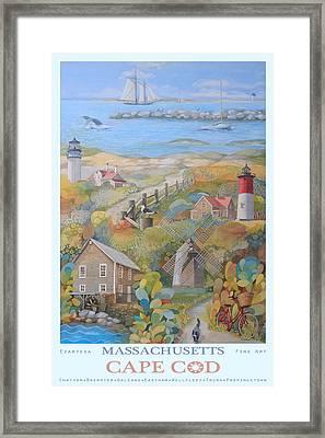 Cape Cod Framed Print by Ezartesa Art