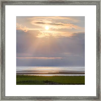Cape Cod First Encounter Beach Square Framed Print by Bill Wakeley